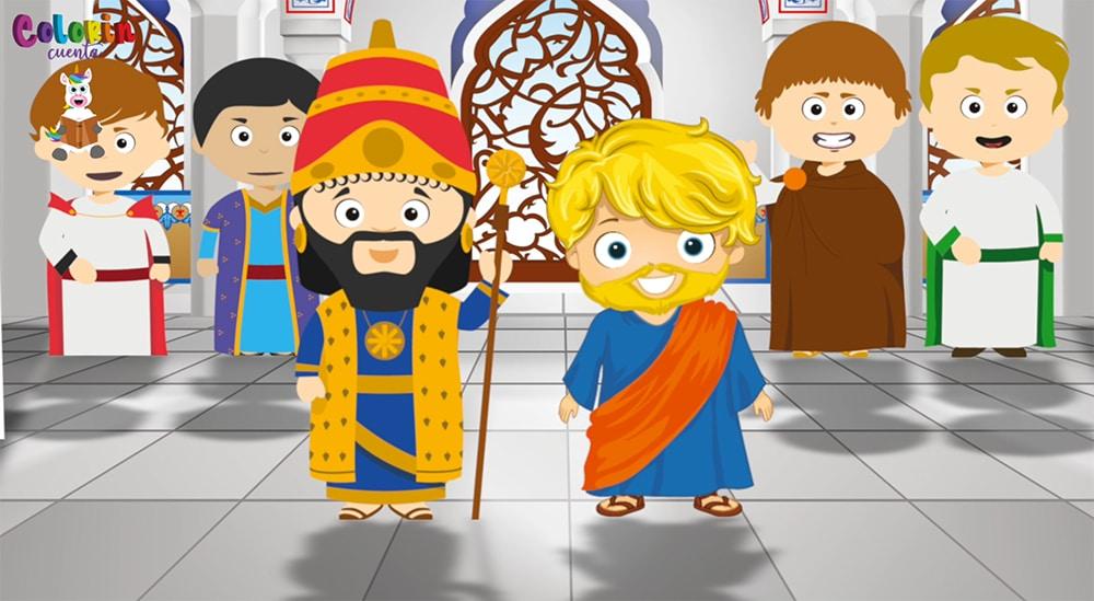 Cuento para niños de Daniel en la fosa de los leones