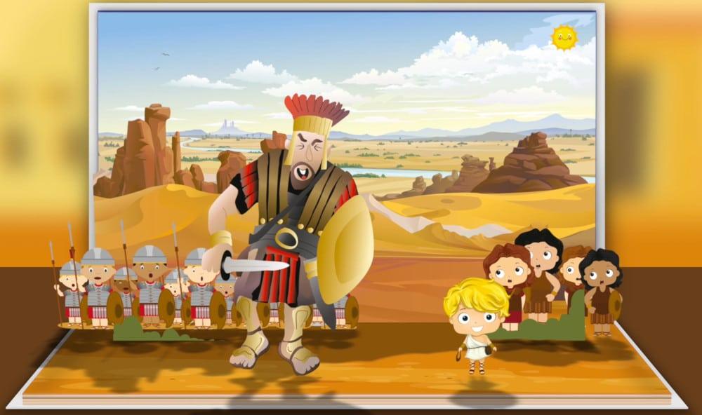Mejores historias de la Biblia para niños -Cuento de David Y Goliat para niños