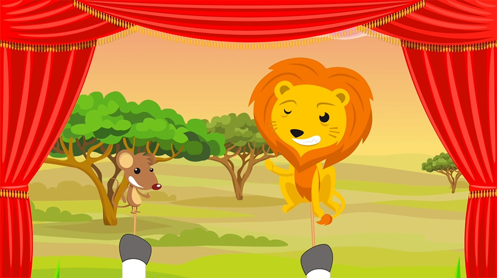 Cuento corto el león y el ratón 4