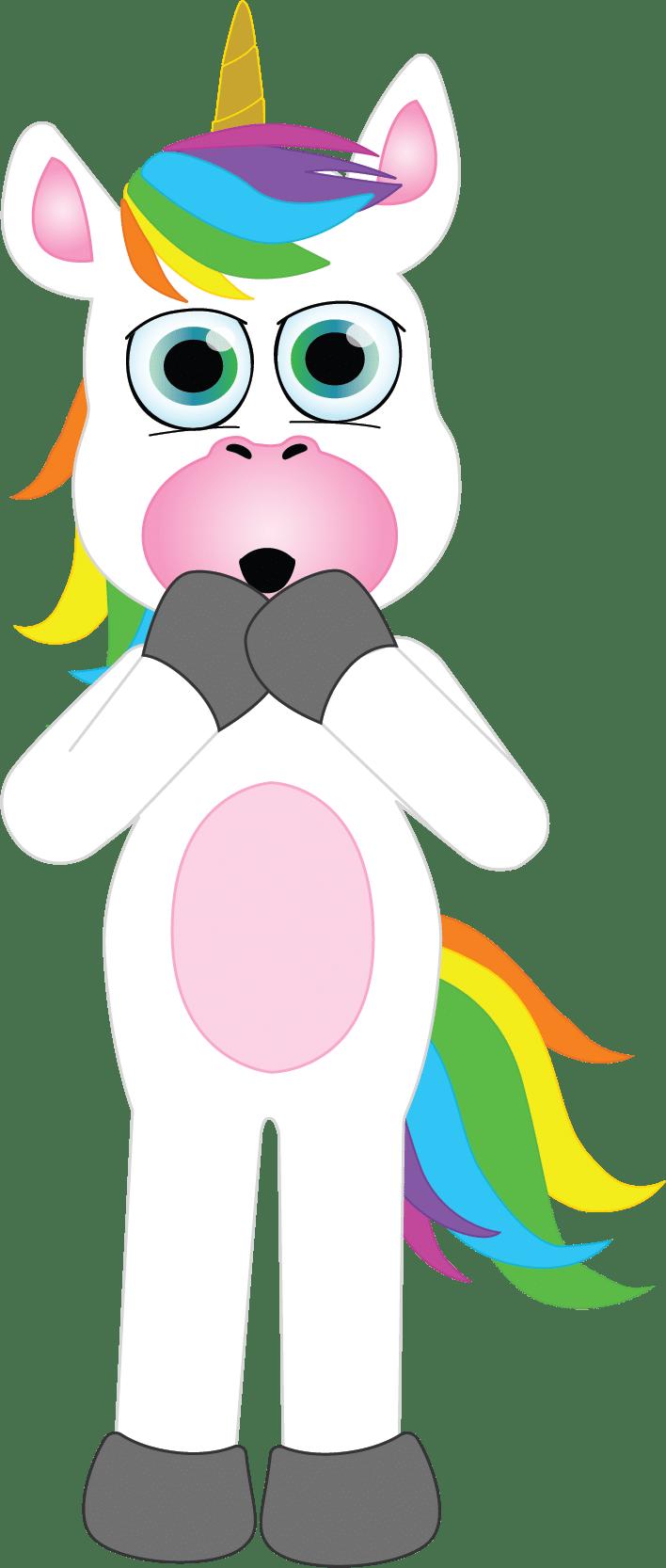 Colorin el unicornio sorprendido