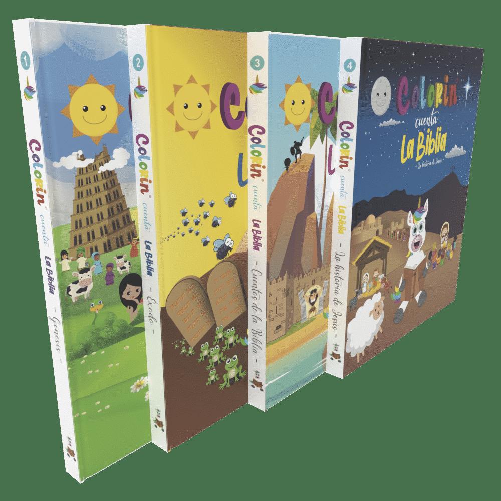 Colorin cuenta la Biblia - 4 libros