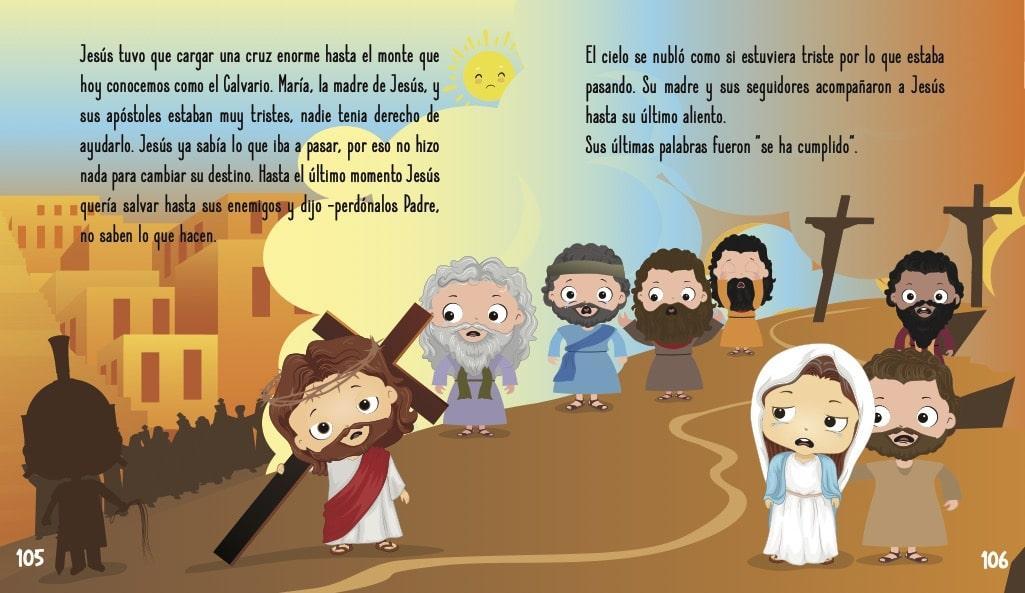 La historia de Jesús para niños- Jesús cargando la cruz