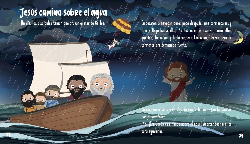 La historia de Jesus para ninos- Jesus camina sobre el agua