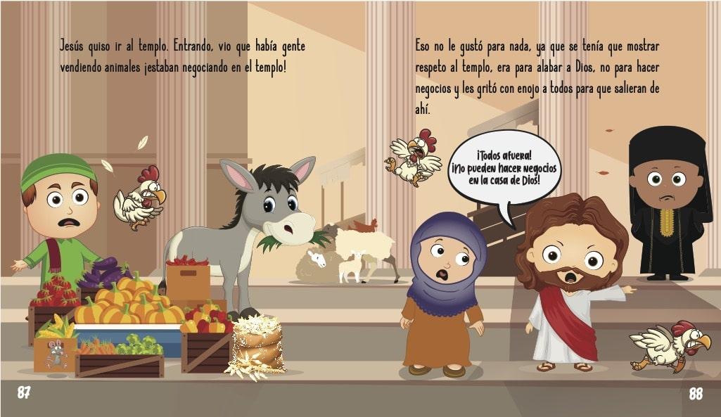 La historia de Jesús para niños- Jesús llega a Jerusalén
