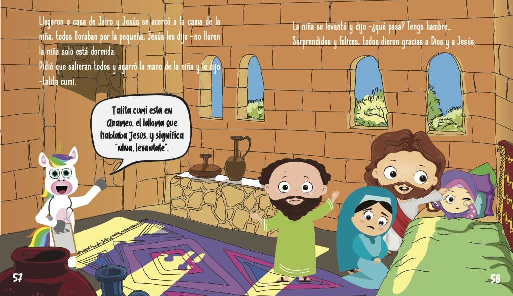 La historia de Jesus para ninos- La nina que desperto