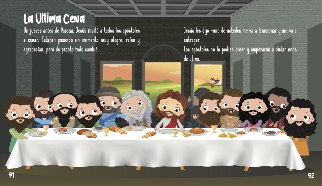 La historia de Jesús para niños- La última cena