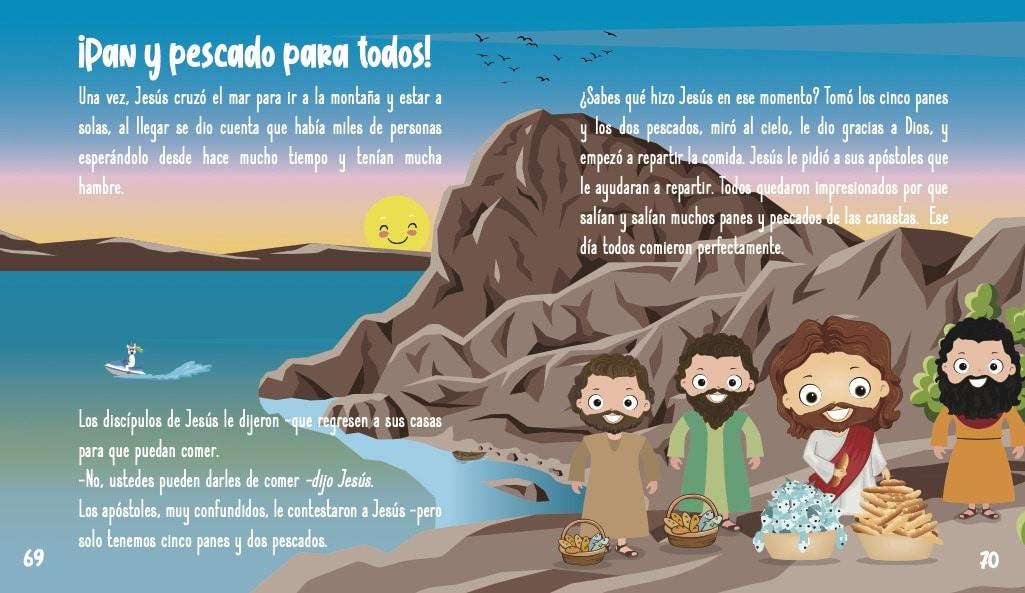 La historia de Jesus para ninos- Pan y pescado para todos