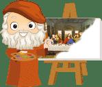 Colorin cuenta Leonardo da Vinci pintando la ultima cena