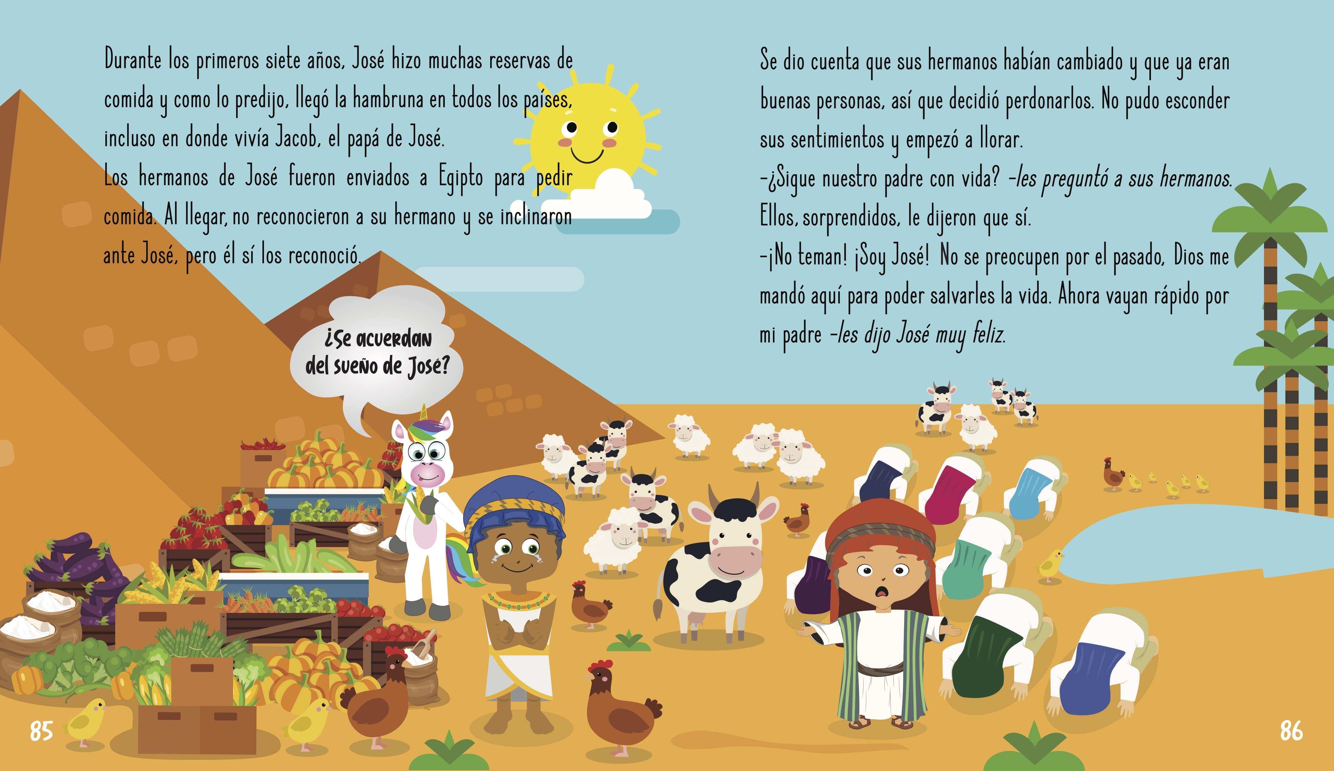mejores historias de la biblia para niños - Jose el soñador