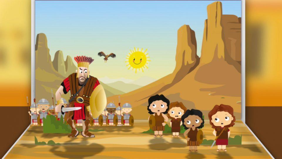 David y Goliat para niños